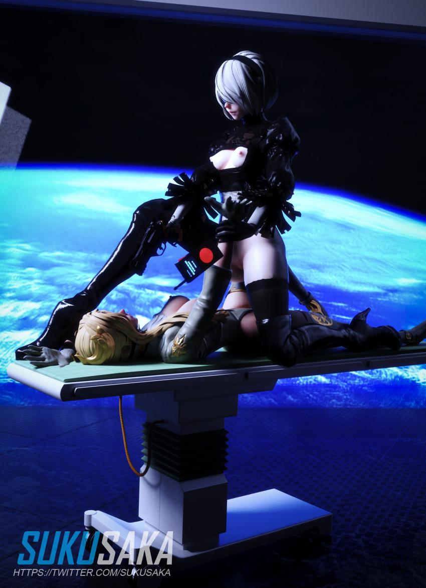 2b nier automata Super girl and power girl