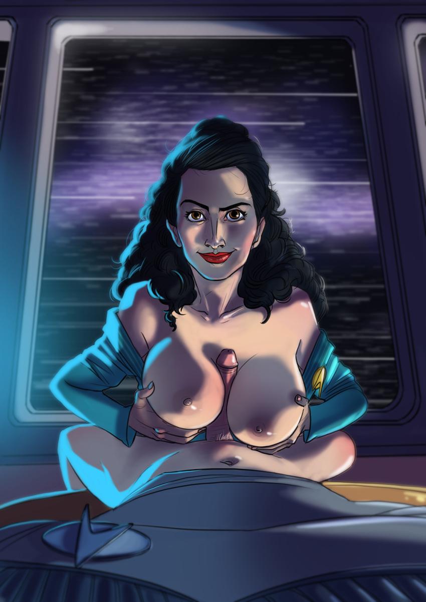 nude deanna trek star troi Green m&m naked