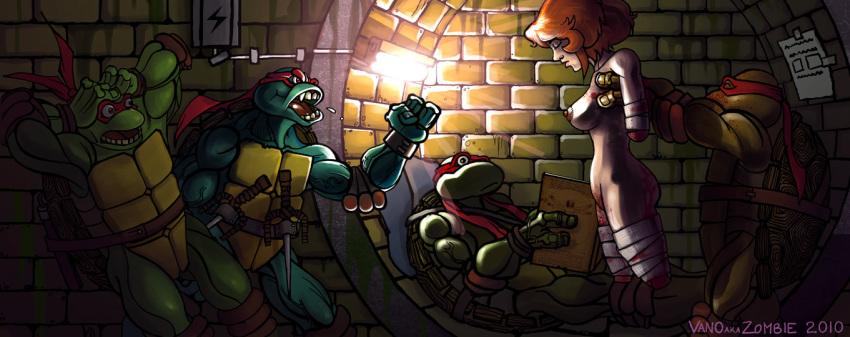 mutant butt turtles ninja april teenage Danjon ni deai o motomeru no wa machigatteiru darou ka