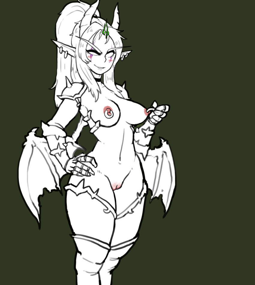 female night demon elf hunter Highschool of the dead rika