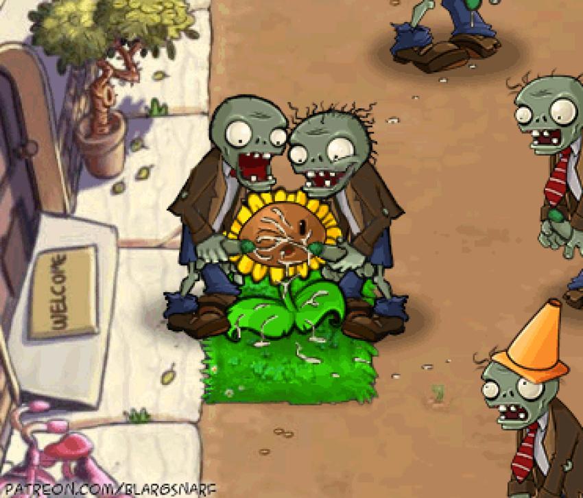 plants vs zombies shroom puff Kung fu panda